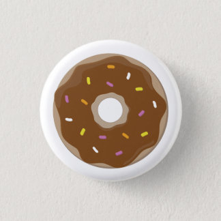 Chocolate Doughnut Vector 3 Cm Round Badge