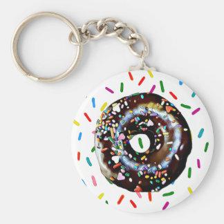 Chocolate Doughnut with Sprinkles Key Chain