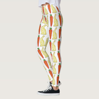 Chocolate Easter Bunny Bunnies Rabbit Carrot Candy Leggings