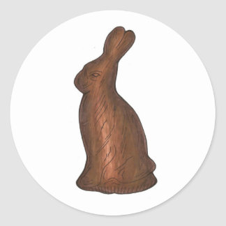 Chocolate Easter Bunny Rabbit Candy Stickers