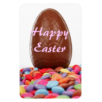 Chocolate Easter Egg Rectangular Photo Magnet