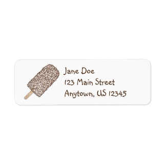 Chocolate Eclair Ice Cream Popsicle Address Labels