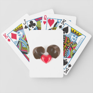 Chocolate egg and heart bicycle playing cards