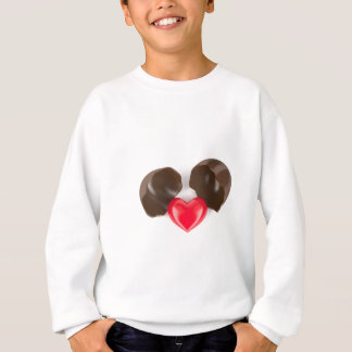Chocolate egg and heart sweatshirt