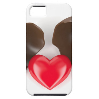 Chocolate egg and heart tough iPhone 5 case