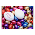 Chocolate eggs easter greeting italian card