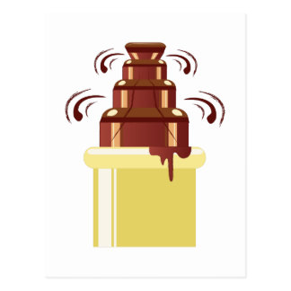 Chocolate Fountain Postcard