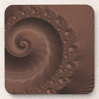 Chocolate fractal design illustration coaster