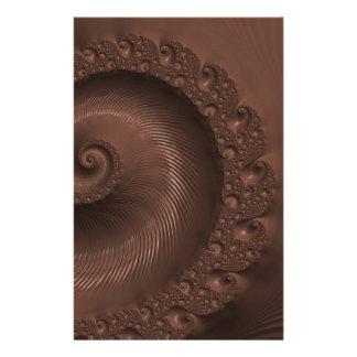 Chocolate fractal design illustration custom stationery