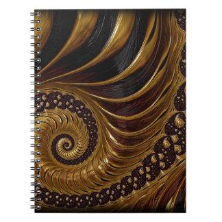Chocolate Fractal Spiral Notebook