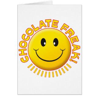 Chocolate Freak Smile Card