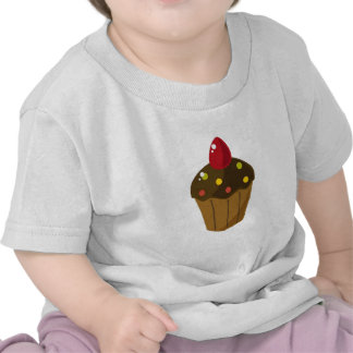 Chocolate Frosted Cupcake T-shirts