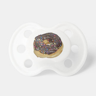 Chocolate Frosted Doughnut Donut Baby Pacifier