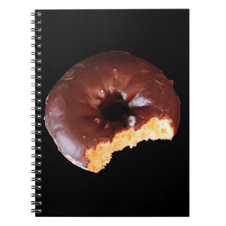 Chocolate Frosted Yellow Cake Donut Photo Notebook
