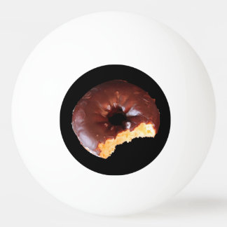 Chocolate Frosted Yellow Cake Donut with Bite Out