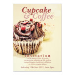 Chocolate Fudge Cupcake Invitation