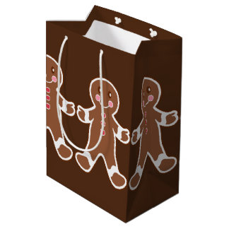 Chocolate Gingerbread Boys Gift Bag Medium Gift Bag