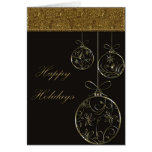 Chocolate & Gold Christmas Ornaments