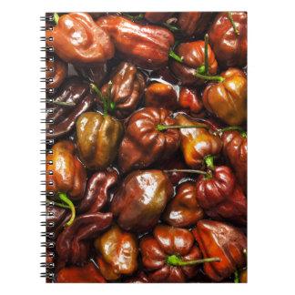 Chocolate Habanero Spiral Notebook