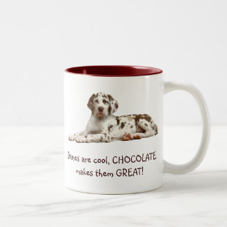 Chocolate Harlequin Two-Tone Mug