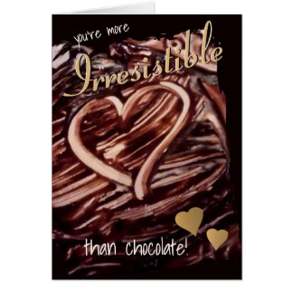 Chocolate Heart Drawing Gold Hearts Funny Love Card