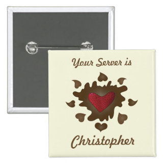 Chocolate Heart Employee Badge