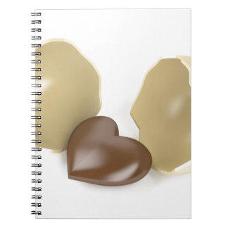 Chocolate heart notebook