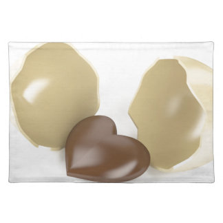 Chocolate heart placemat