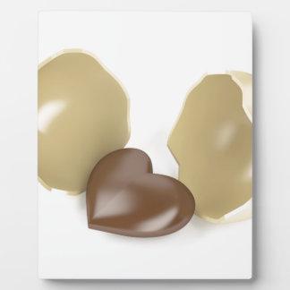 Chocolate heart plaque
