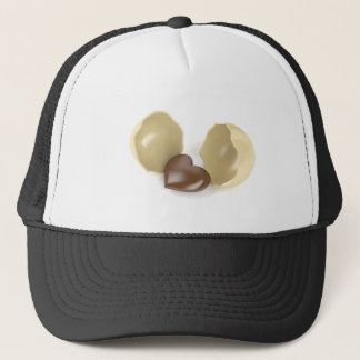 Chocolate heart trucker hat