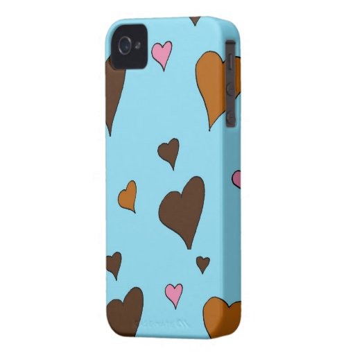 Chocolate Hearts Blackberry Phone Case Blackberry Cases