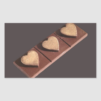 Chocolate Hearts Save the Date Rectangle Stickers
