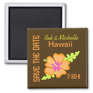 Chocolate Hibiscus Custom Magnet Favor