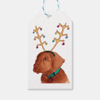 Chocolate Holiday Lab Gift Tags