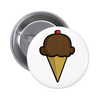 Chocolate Ice Cream Button