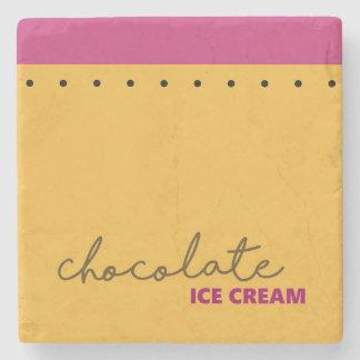 Chocolate Ice Cream Coaster Stone Beverage Coaster