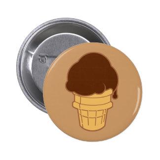 Chocolate Ice Cream Cone Pin