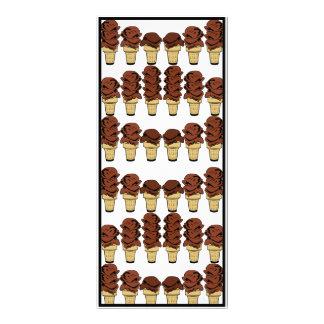 Chocolate Ice Cream Cones Background Personalized Rack Card