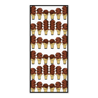 Chocolate Ice Cream Cones Background Rack Card