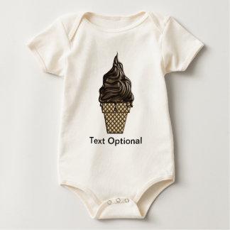 Chocolate Ice Cream Day June 7 Baby Bodysuit