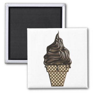 Chocolate Ice Cream Day June 7 Square Magnet