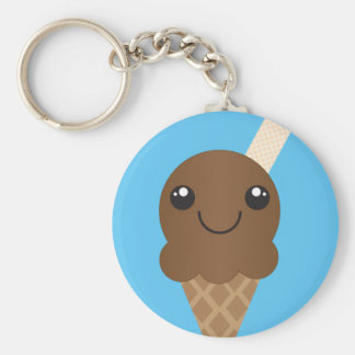Chocolate Ice Cream Keychain