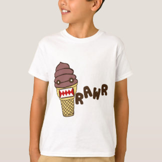Chocolate Ice Cream Monster RAWR T-Shirt