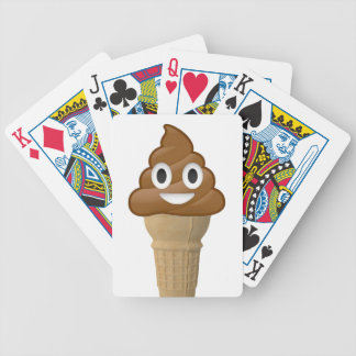 Chocolate Ice cream or is it? Fun with Emoji Bicycle Poker Cards