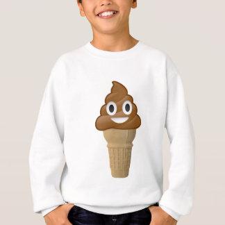 Chocolate Ice cream or poop? Emoji fun! Sweatshirt