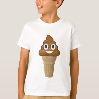 Chocolate Ice cream or poop? Emoji fun! T-Shirt