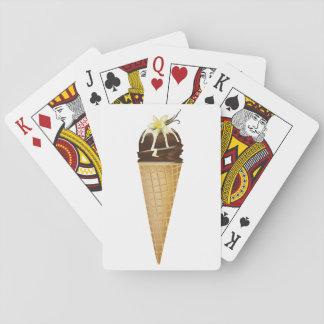 Chocolate Ice Cream Playing Cards