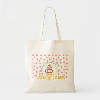 Chocolate Ice Cream Polka Dots Dream Budget Tote Bag