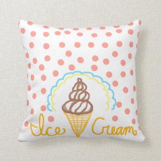 Chocolate Ice Cream Polka Dots Dream Throw Cushions