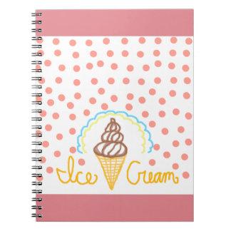 Chocolate Ice Cream Polka Dots Dream Note Books